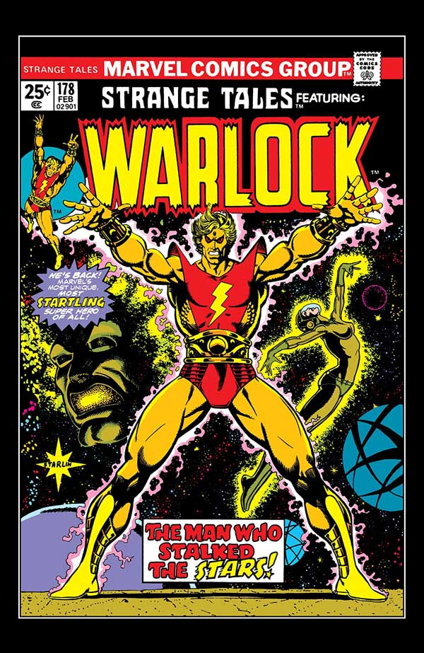 Strange Tales #178 - Who is Adam Warlock? released by Marvel on February 1975
